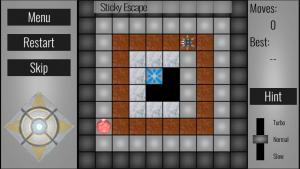 Sticky escape